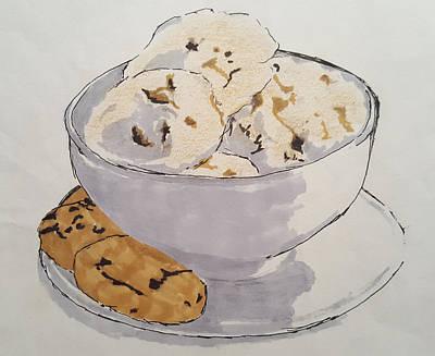 Frozen Yogurt Mixed Media - Vanilla Ice Cream by Calvin Williams