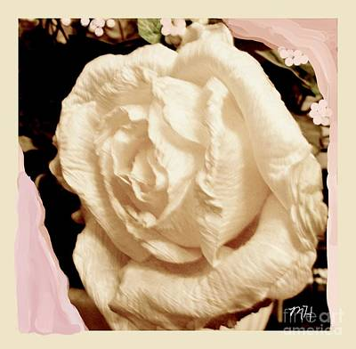 Mixed Media - Vanilla Rose by Marsha Heiken