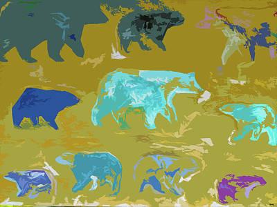 Painting - Vanishing Bears by Robert Margetts