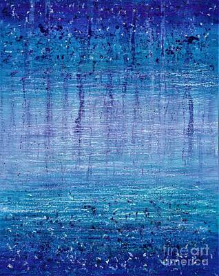 Painting - Vanishing Blue  by Allison Constantino