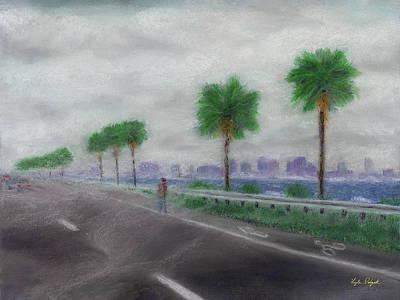 Pastel - Vanishing Man by Lyle Polyak
