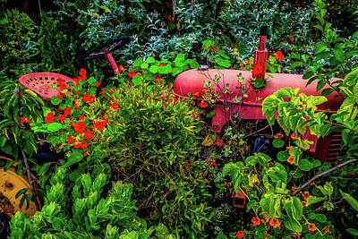 Photograph - Vanishing Tractor by Garry Gay