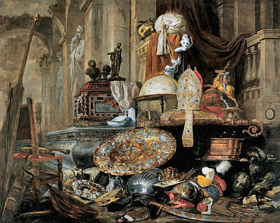 Painting - Vanitas Allegory 1663 by Pieter Boel