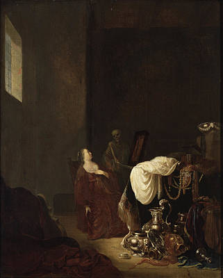 Painting - Vanitas Allegory by Willem de Poorter