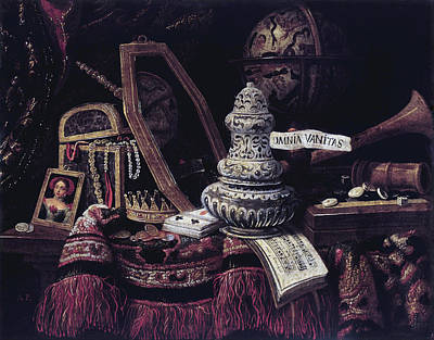 Painting - Vanitas by Anonymous