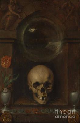 Tarot Painting - Vanitas Still Life, 1603 by Jacques II de Gheyn