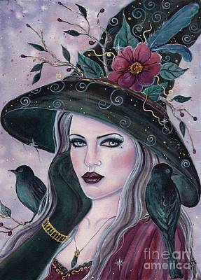 Painting - Vannora Halloween Witch by Renee Lavoie