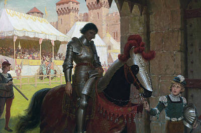 Vanquished Painting - Vanquished by Edmund Leighton