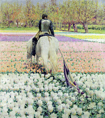 Of Flowers Painting - Vanquished by George Hitchcock
