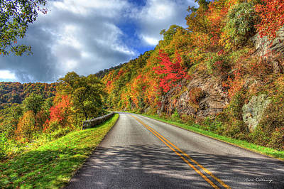 Vantage Point Blue Ridge Parkway Art Print by Reid Callaway