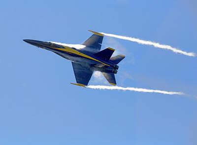 Photograph - Vapor Trails - Blue Angel 2 by Patricia Sanders