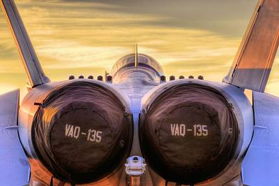 Whidbey Island Wa Photograph - Vaq-135 Growler by JC Findley