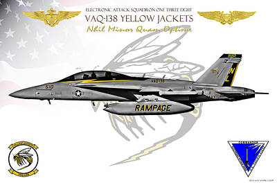 Vaq-138 Growler Print by Clay Greunke