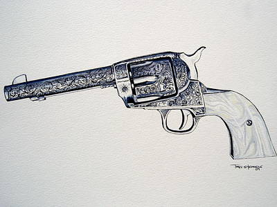 Ruger Painting - Vaquero by Trey Stephens