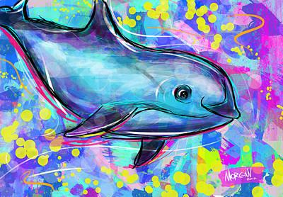 Artichoke Digital Art - Vaquita by Morgan Richardson