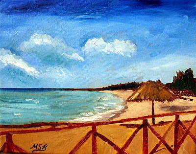 Varadero Beach  Art Print by Maria Soto Robbins
