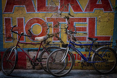 Photograph - Varanasi Hotel Bicycles by David Longstreath