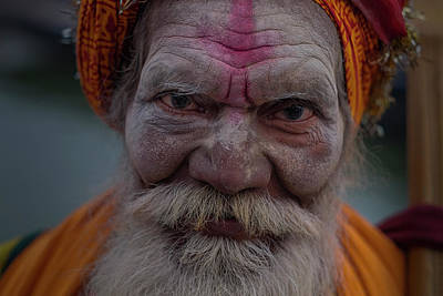Photograph - Varanasi Hoy Man 2 by David Longstreath