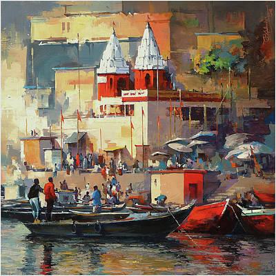 Tamilnadu Painting - Varanasi Recent-2016-02 by Satheesh Kanna
