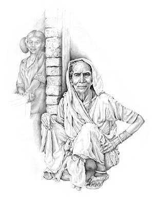 Varanasi Woman Art Print by Karla Beatty