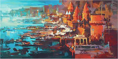 Tamilnadu Painting - Varanasirecent-2016-01 by Satheesh Kanna