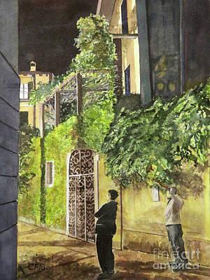Painting - Varenna Evening Stroll by Carol Flagg