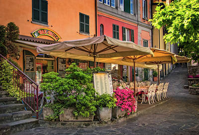 Photograph - Varenna Harborfront Restaurant by Carolyn Derstine