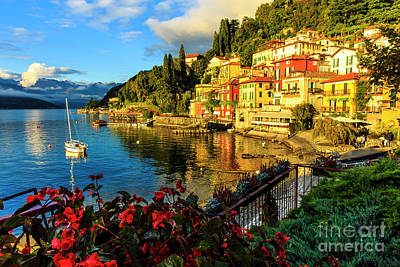 Photograph - Varenna Italy At Sunset by Ben Graham