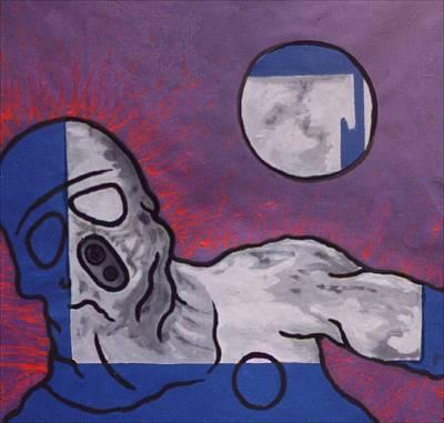 Expresive Painting - Variation In Blue by Pierre Davis-Dutreix