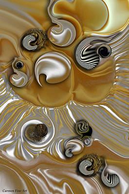 Digital Art - Variation With Beginning by Carmen Fine Art