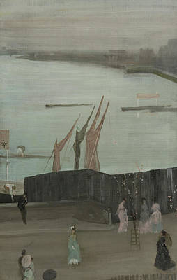 Variations In Pink And Grey - Chelsea Art Print by James Whistler