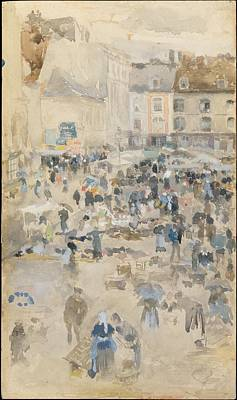 Variations In Violet And Greymarket Place Dieppe Original by James McNeill Whistler