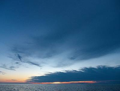 Print featuring the photograph Variations Of Sunsets At Gulf Of Bothnia 4 by Jouko Lehto
