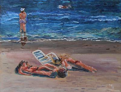 Painting - Variations On Tanning II by Michael Helfen