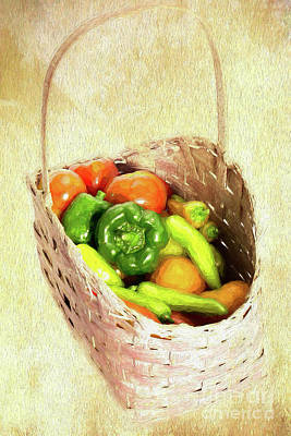 Painting - Varied Veggies Ap by Dan Carmichael