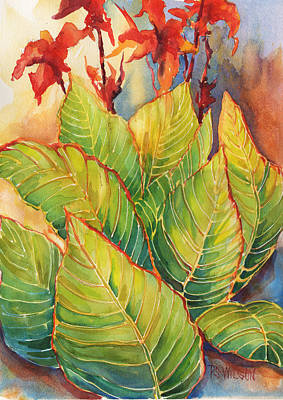 Variegated Painting - Variegated Lilly by Peggy Wilson