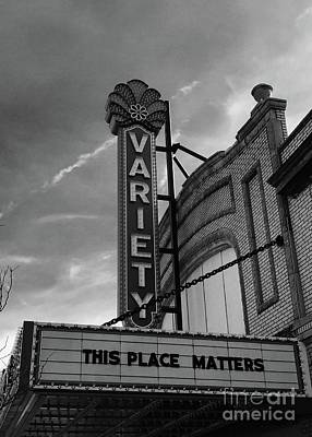 Photograph - Variety Marquee by Michael Krek