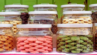 Cookie Jar Wall Art - Photograph - Various Cookies In Glass Jars by Yali Shi