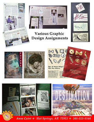 Digital Art - Various Graphic Design Assignments by Anne Cameron Cutri