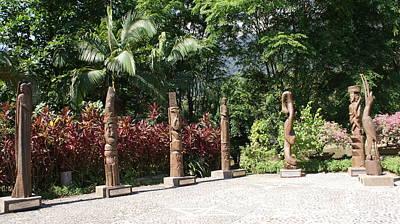 Various Types Of Wood Statue Original