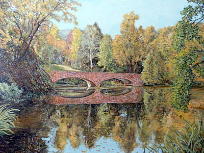 Painting - Varsity Lake Bridge Cu Boulder  by Tom Roderick