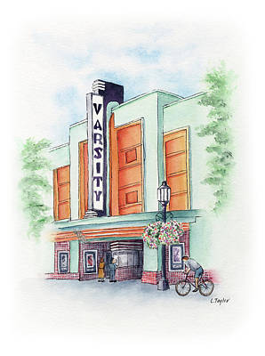 Painting - Varsity On Main by Lori Taylor