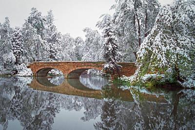 Lee Craker Royalty-Free and Rights-Managed Images - Varsity Pond Bridge by Lee Craker