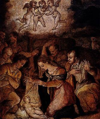 Digital Art - Vasari Giorgio The Nativity With The Adoration Of The Shepherds by Giorgio Vasari