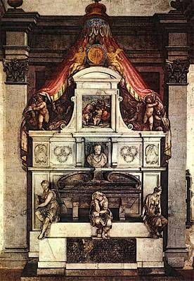 Digital Art - Vasari Monument To Michelangelo by Giorgio Vasari