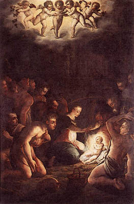 Digital Art - Vasari The Nativity by Giorgio Vasari