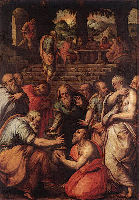 Digital Art - Vasari The Prophet Elisha by Giorgio Vasari