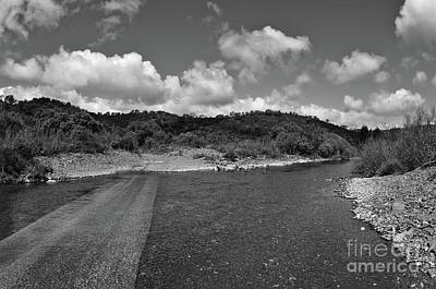 Photograph - Vascao River In Algarve, Portugal. Monochrome by Angelo DeVal