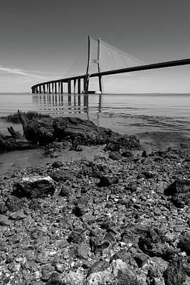 Photograph - Vasco Da Gama Bridge II by Marco Oliveira