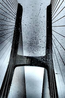 Photograph - Vasco Da Gama Bridge In Lisbon  by Dora Hathazi Mendes